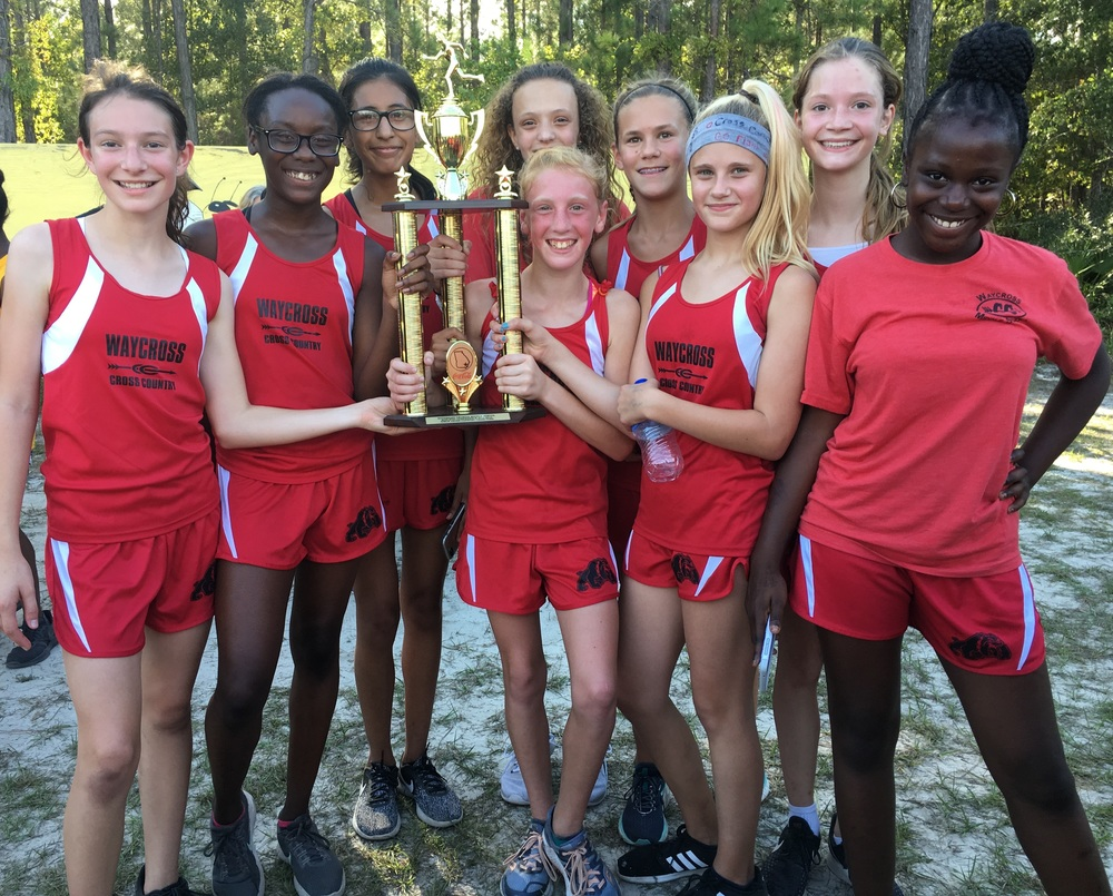Waycross Middle School Lady Bulldogs are Cross Country Conference Champions