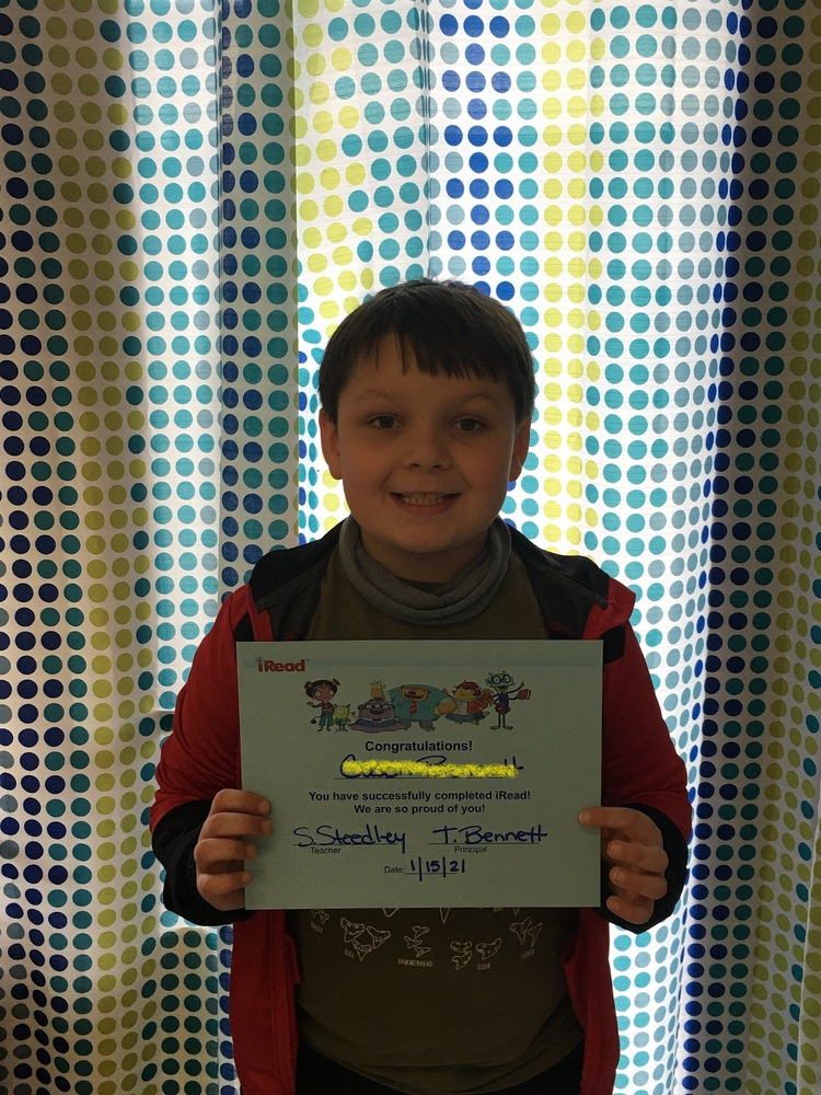 Second Grade Student Completes iRead Program