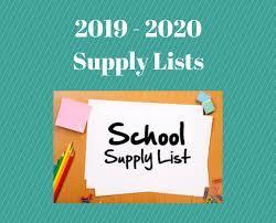 2019-2020 Center Supply List
