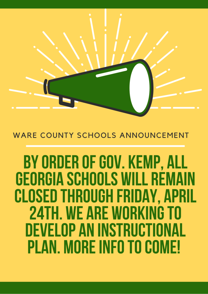 Georgia Schools Closed through April 24th