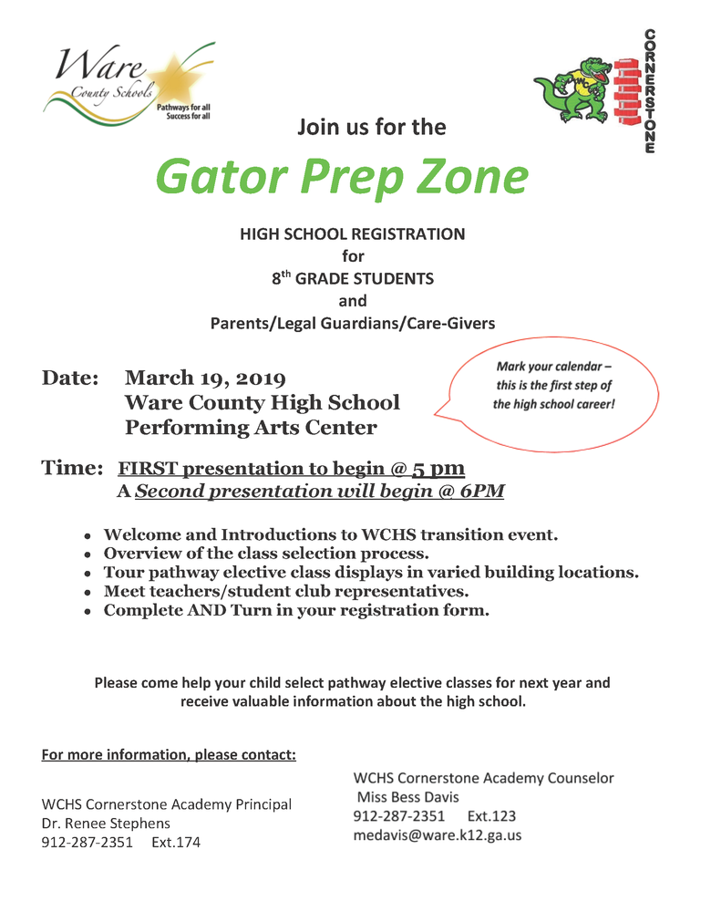 Rising Freshmen Invited to Gator Prep Zone