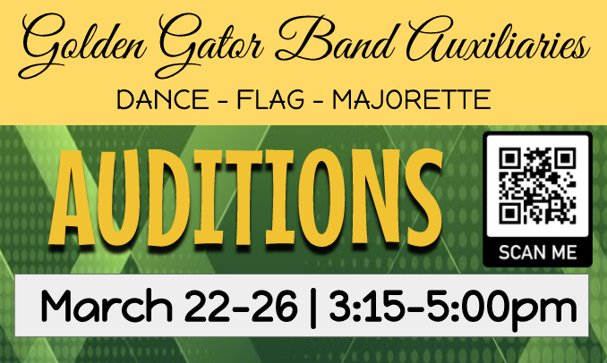 WCHS Golden Gator Band Announces Auxiliary Tryouts