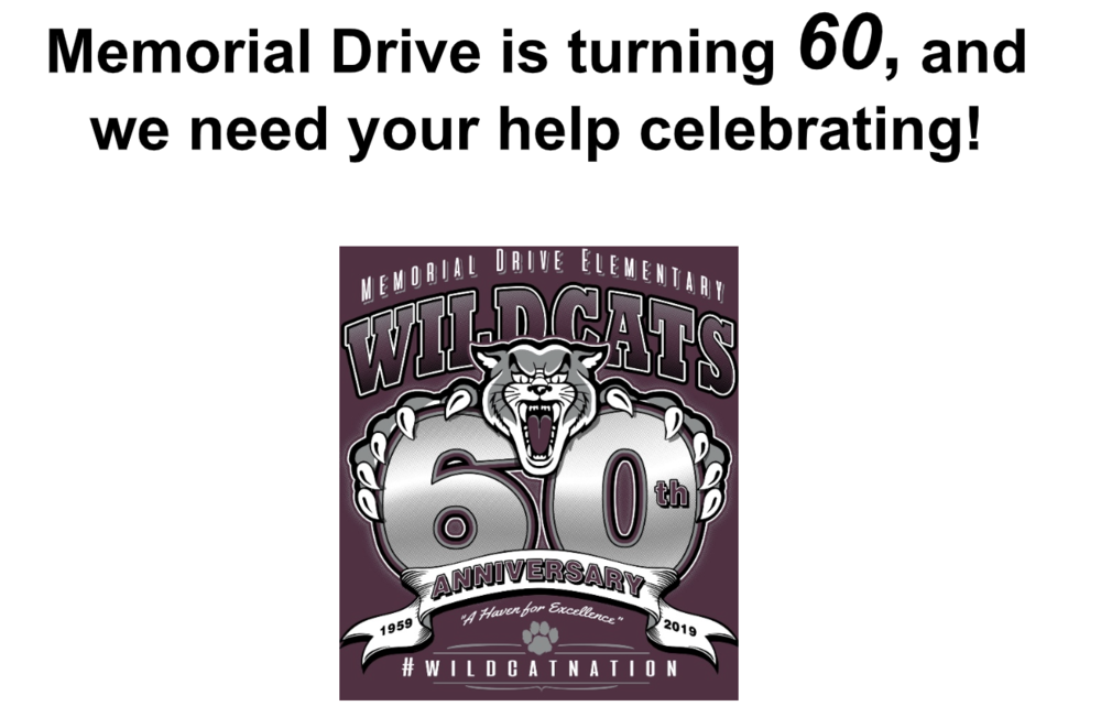 Memorial Drive Elementary School to Celebrate 60th Anniversary
