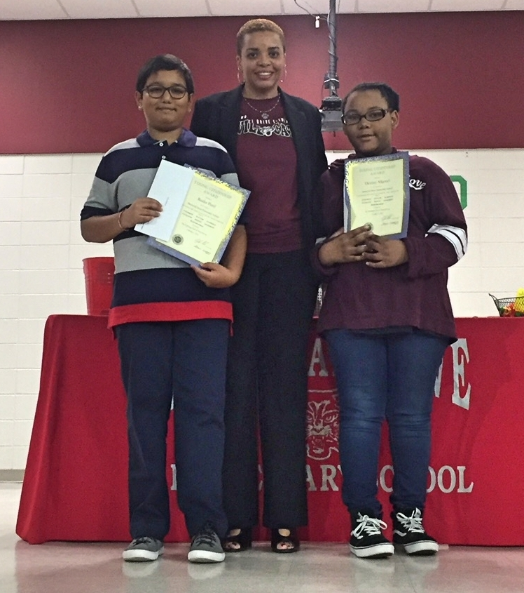 Memorial Drive Elementary Recognizes Young Citizenship Award Winners