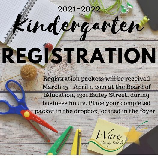 Kindergarten Registration Closes Thursday, April 1 at Noon