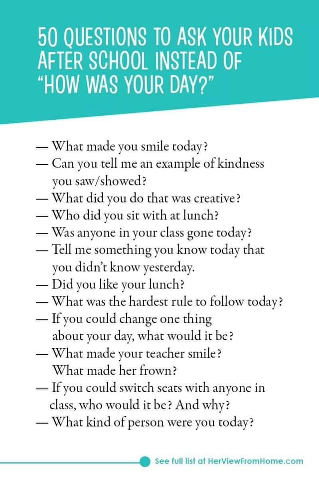 50 Questions to Ask Your Kids
