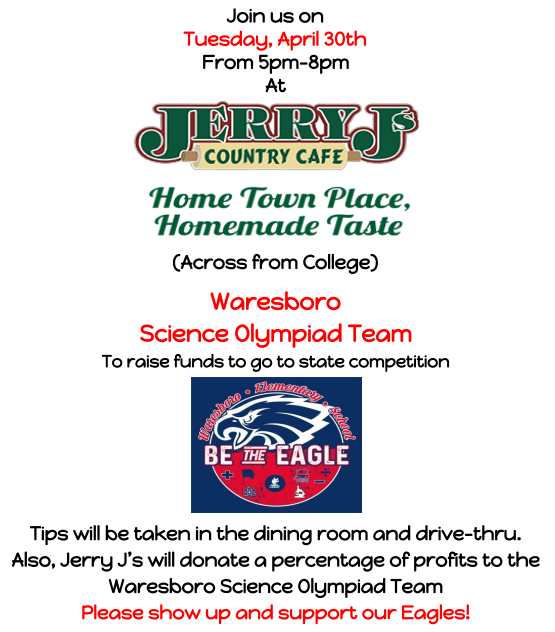 Science Olympiad Fundraiser