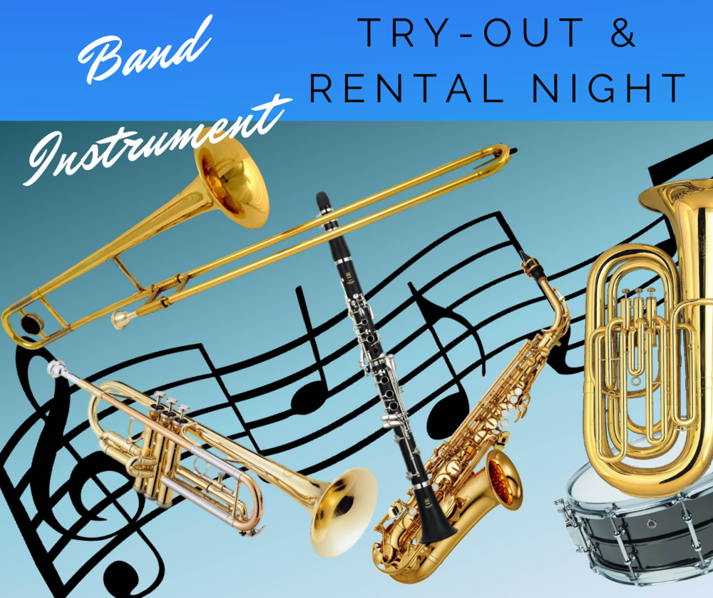 Waycross Middle Band Announces Sign-Up for Instrument Try-Out and Rental Nights