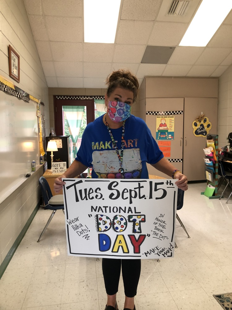 National Dot Day at Center Elementary Tomorrow