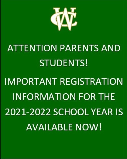 Important Registration Information for the 2021-2022 School Year
