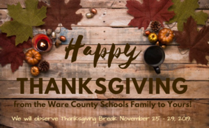 Thanksgiving Holiday Announcement