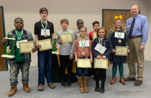 Chrishaud B. is the Ware County Schools Spelling Bee Champion