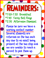 Parent Reminders