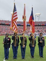 JROTC on National Stage at GA-FLA Game