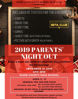 Beta Club Presents Parent's Night Out