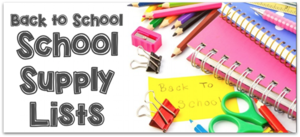 Waresboro School Supply Lists