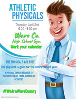 Athletic Physicals are April 2nd