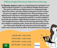 Meeting for Parents of Digital Learners