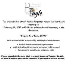 Kindergarten Lunch and Learn
