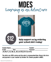 Order Your School Shirt Today!