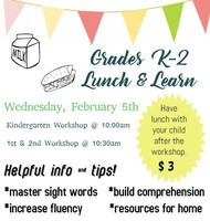 K-2 Lunch and Learn