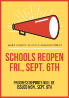 School Resumes Friday, September 6th