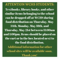 Instructions for WCHS Students to Return School Belongings