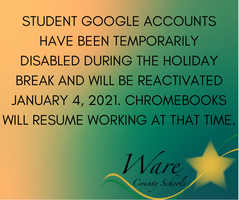 Google Accounts Disabled Until 01/04/21