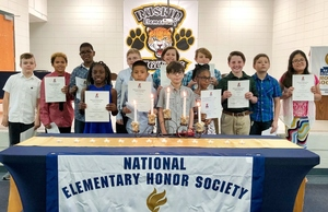 Ruskin Elementary Hosts NEHS Induction Ceremony