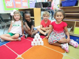 DAFFODIL Pre-K Students Enjoy STEM Building Activity
