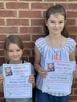 Brooke S. and Katie B. win Georgia Cities Coloring Contest!
