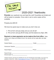 Yearbook Preorder