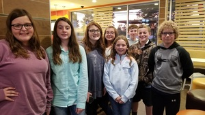 WARE MIDDLE FFA PARTICIPATES IN AREA COMPETITIONS