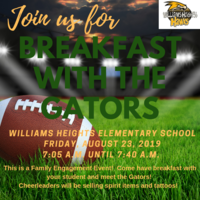 Join us for Breakfast with the Gators!