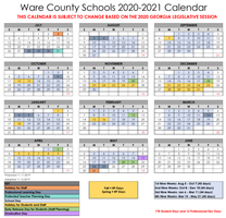 BOE Adopts 2020-2021 and 2021-2022 Ware County Schools Calendar at November Meeting