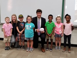 Waycross Bank and Trust Officials Visit Memorial Drive Elementary School