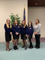 WCMS FFA Members Present Projects to Board Members
