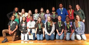 Waycross Middle School Students Perform Well at District Tech Fair