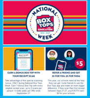National Box Tops for Education Week