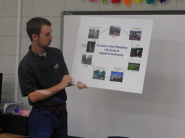 Rayonier Timber Marketing Forester Visits Center Elementary