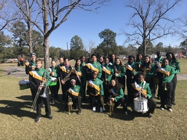 8th grade band students march in the MLK parade
