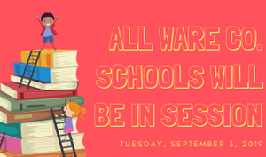Schools Reopen Tuesday, September 3rd