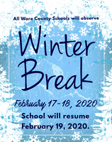 Winter Break is February 17-18, 2020