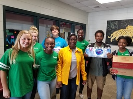 WCHS DECA Club Members Collect Donations for Hurricane Michael Victims