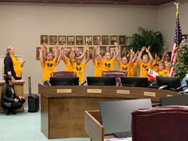Wacona Elementary Students Perform for Board Members