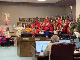 Center Elementary Students Entertain at February Board Meeting