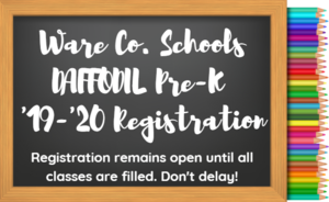 DAFFODIL Pre-K Registration for the 2019-2020 School Year is Still Open