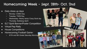 Homecoming Week Sept 28th - Oct. 2nd