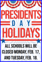 President's Day Holidays
