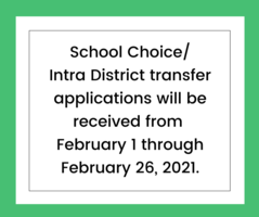 School Choice/Intra District Transfer Applications